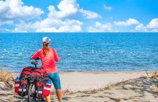 Touriste à vélo