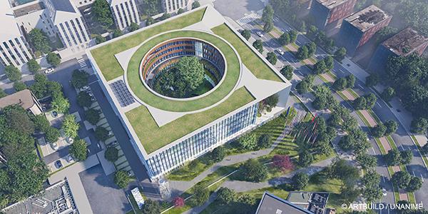 Vue d'architecte du futur bâtiment du CIRC